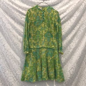 Vintage California Vibes Psychedelic Dress